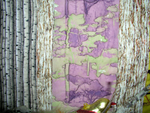 Forests Quilting Detail
