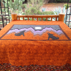 Coyote Moon King Quilt