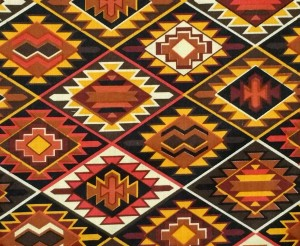 Sonoran Sun king quilt - Fabric on back of quilt
