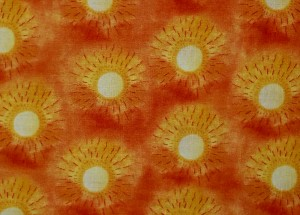 Sonoran Sun king quilt - feature fabric in blocks