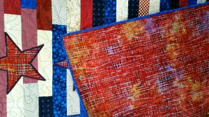 Patriotic Lap Quilt - back detail