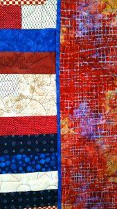 Patriotic Lap Quilt - border detail